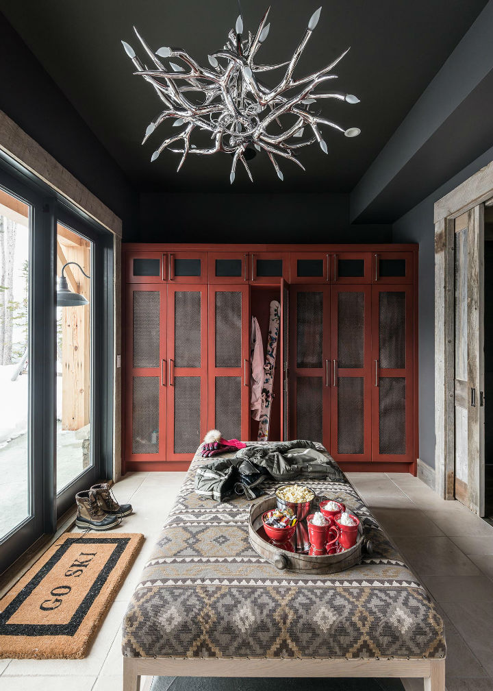 Log Cabin Style Meets Ethnic And Modern Interior Design