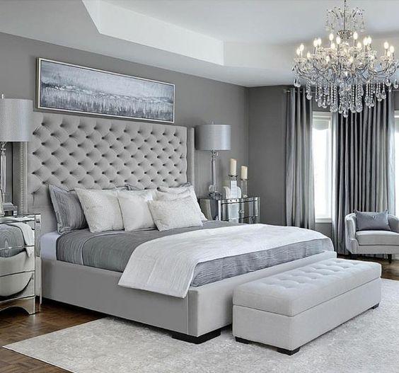 grey bedroom style idea 11