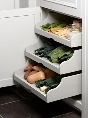 gebogener Auszug Gemüseschalen Küchenschrank