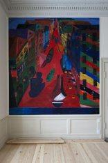 Pintura de brillantes colores de Tal R en el estudio destinado al príncipe Federico en la que va a ser su nueva residencia
