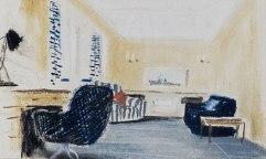 Boceto del escritorio del duque de Edimburgo