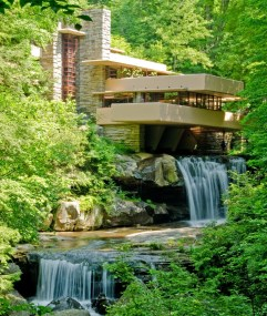 22. Frank Lloyd Wright's Casa de la Cascada (Mill Run, Pennsylvania, EEUU