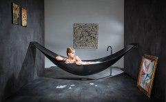 Bañera en forma de hamaca