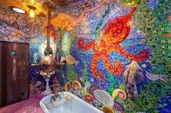 Cuarto de baño inspirado en Yellow Submarine