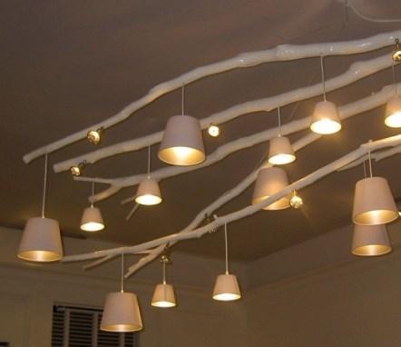 Ramas y maderas una alternativa barata para hacer lamparas