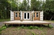 Una maravillosa cabaña hecha con containers