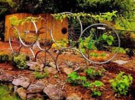 Ideas para reutilizar ruedas de bicicletas
