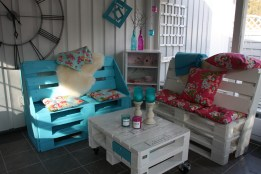 Diseño sustentable: Estos muebles de jardín fueron construidos con pallets