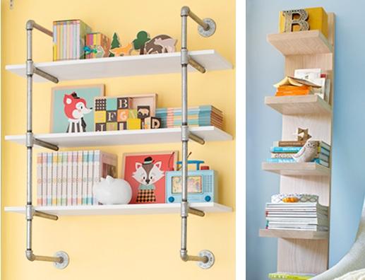 Small Shelves And Magazine Holder For Bedroom Organization