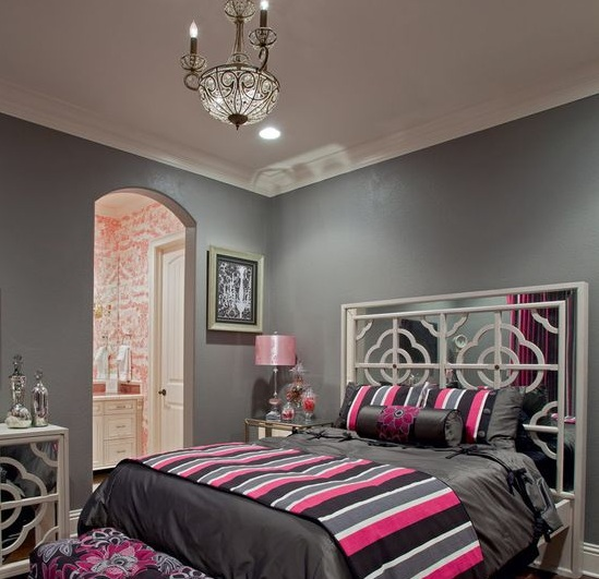 Pink And Grey Bedroom Ideas With Light Gray Chest Decolover Net