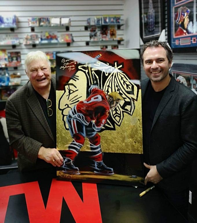 Éric Sévigny et Bobby Hull
