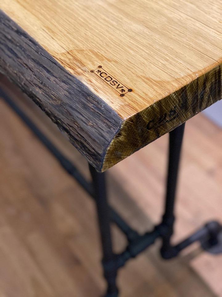 table tuyau fer galvanisé look industriel