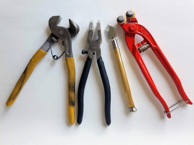 Les outils de Mélanie pour créer la mosaïque.