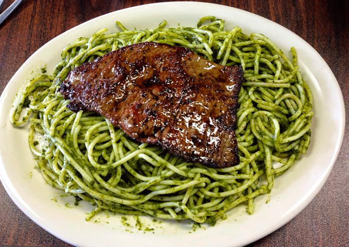 tallarines verdes receta
