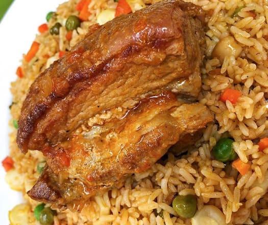 receta arroz con chancho