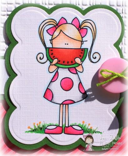 Watermelon Smile card by Jen Shults