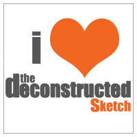 i <3 the deconstructed sketch badge