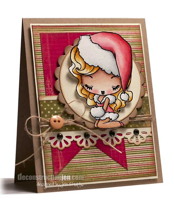 Cheeky Christmas | Handmade Card | Jen Shults