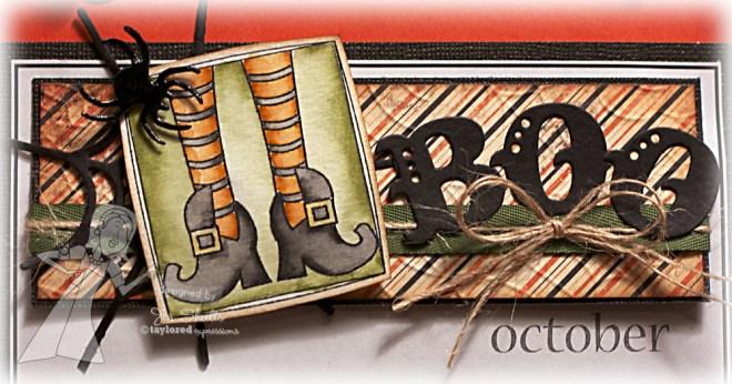 October handmade calendar -jen shults