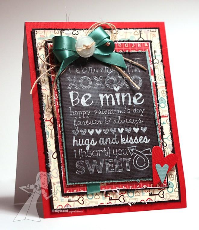 Be Mine, handmade card by Jen Shults