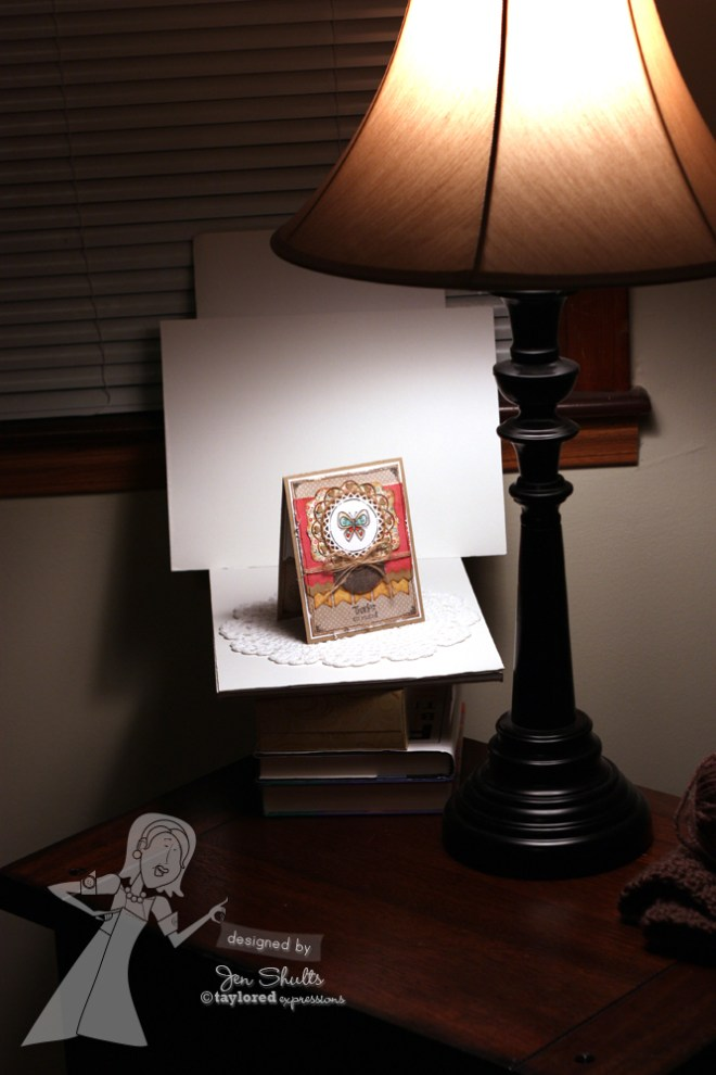 Indoor Card Photography Set Up by Jen Shults
