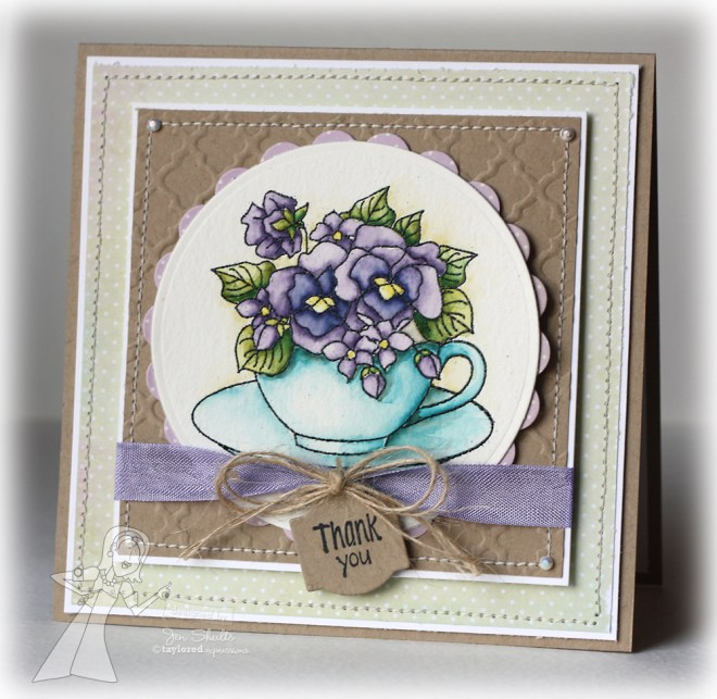 Thank You, handmade card by Jen Shults