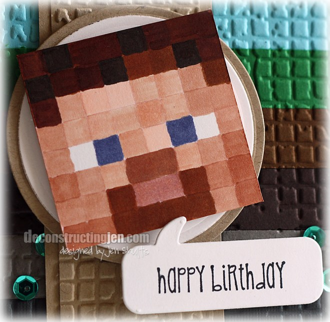 DS109 Minecraft Steve Card
