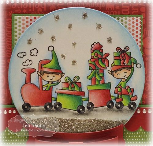 Elf Train - Christmas Card