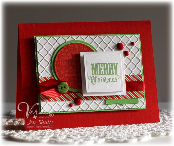 Merry Christmas by Jen Shults, Stamps by Verve Stamps