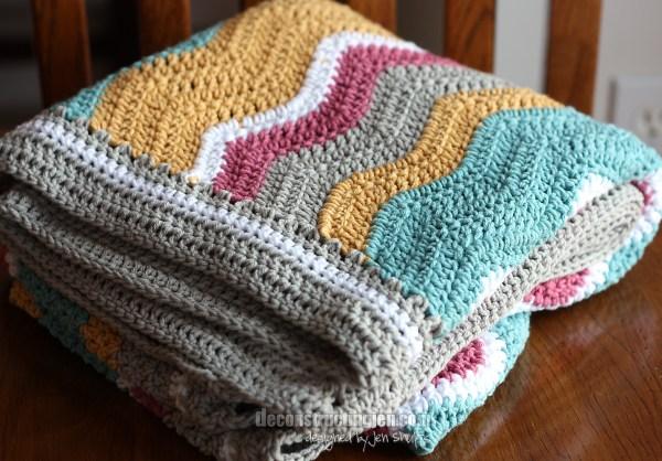 Ripple baby blanket, Attic 24 pattern
