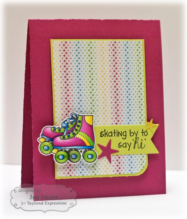 Skating By to Say Hi by Jen Shults, Stamps by Taylored Expressions