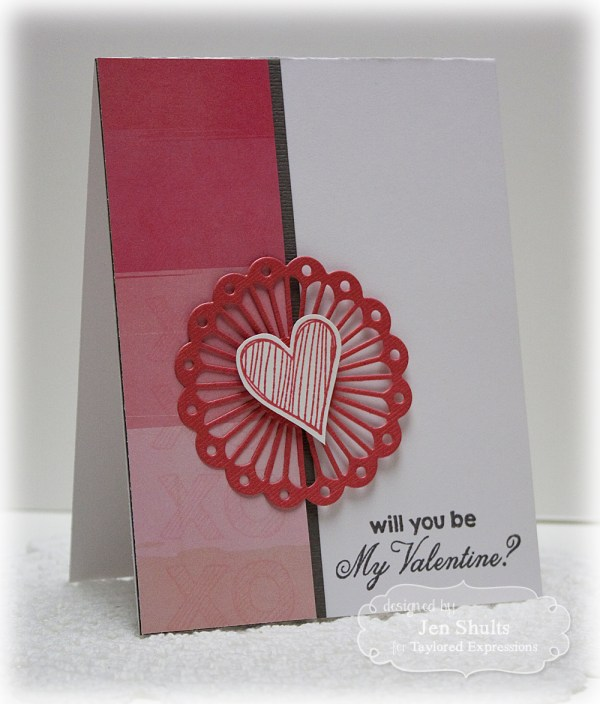 Be My Valentine by Jen Shults, handmade card