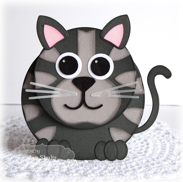 Bobblehead Kitty Card by Jen Shults