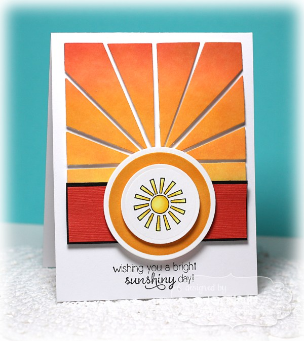 Sunshiney Day by Jen Shults, handmade card