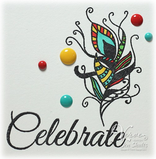 Celebrate by Jen Shults, stamps and dies from Verve