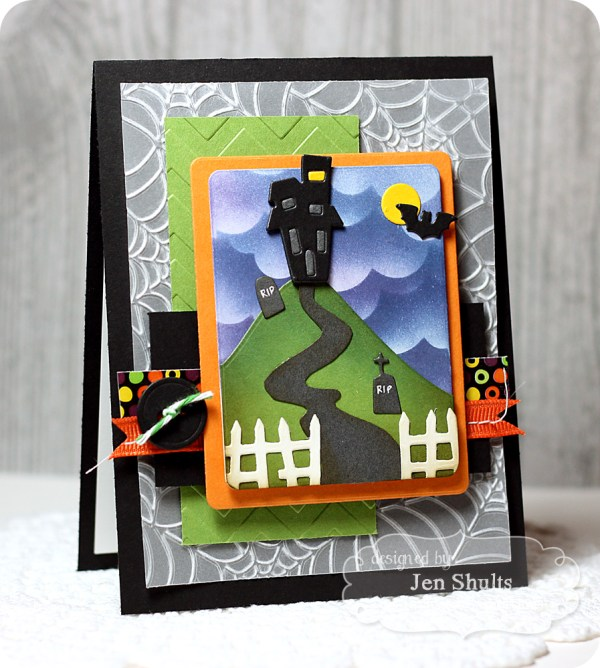 Little Bits Haunted House, all supplies from Taylored Expressions