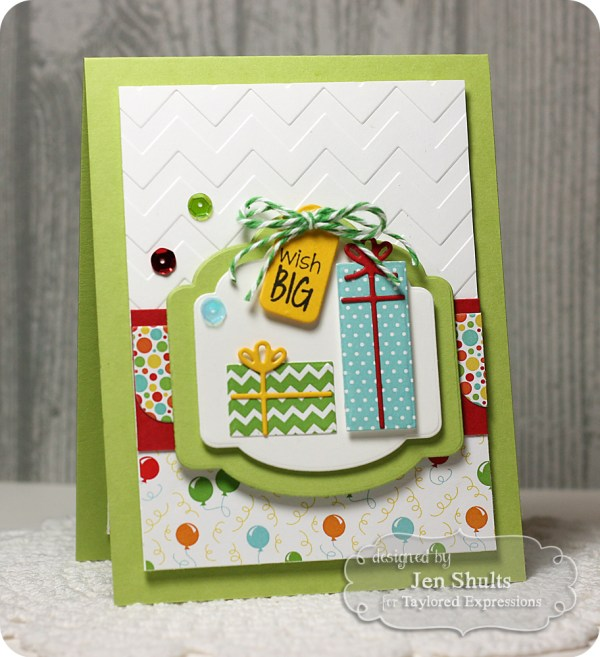 Wish Big by Jen Shults, stamps and dies from Taylored Expressions