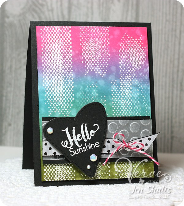 Hello Sunshine by Jen Shults, stamps and dies from Verve stamps