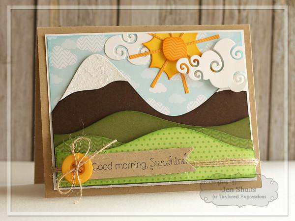 Good Morning Sunshine by Jen Shults, handmade card