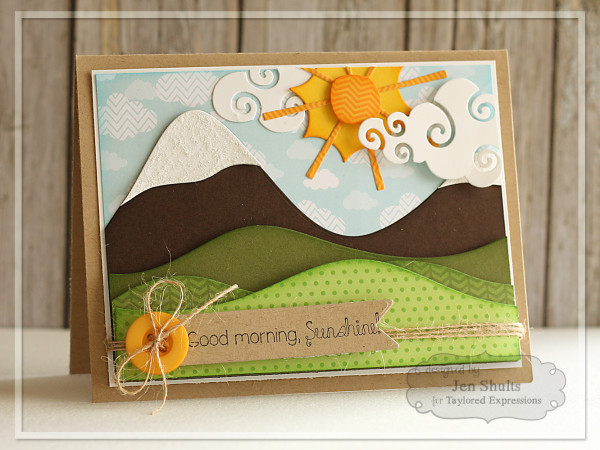 Good Morning Sunshine by Jen Shults, handmade card