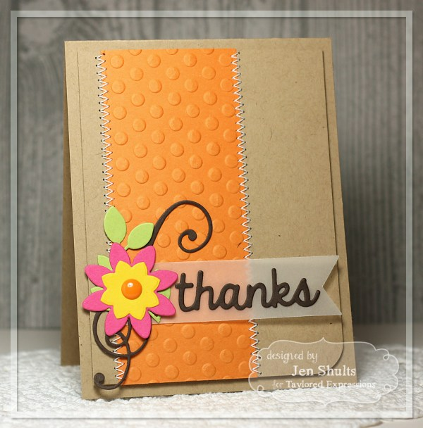 Thanks, handmade card by Jen Shults