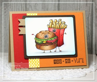 YUM! by Jen Shults, handmade card, Stamps and Dies from Taylored Expressions