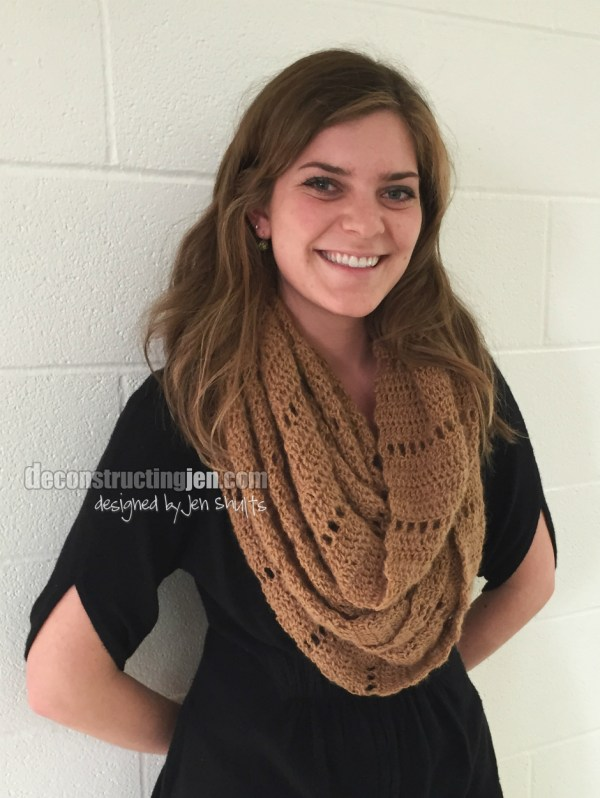 Textured Infinity Scarf Pattern