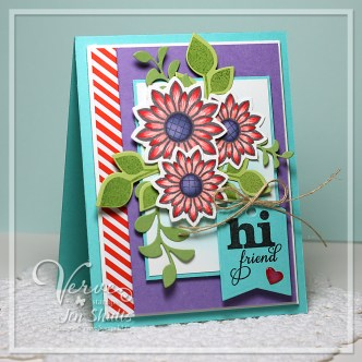 Hi Friend by Jen Shults, handmade card using Color Thowdown #329 and Verve Stamps