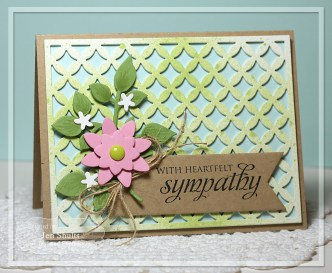 With Sympathy by Jen Shults, handmade card