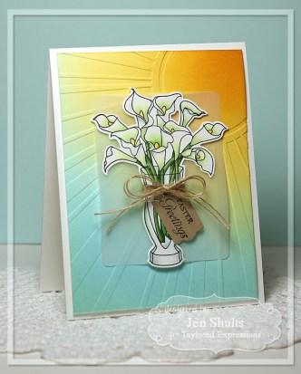 Easter Greetings by Jen Shults, handmade card
