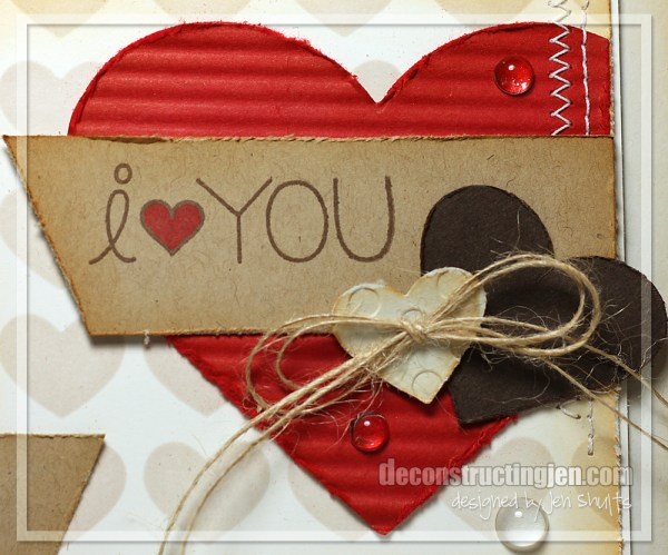 i <3 You by Jen Shults, handmade card #7DayOfLove