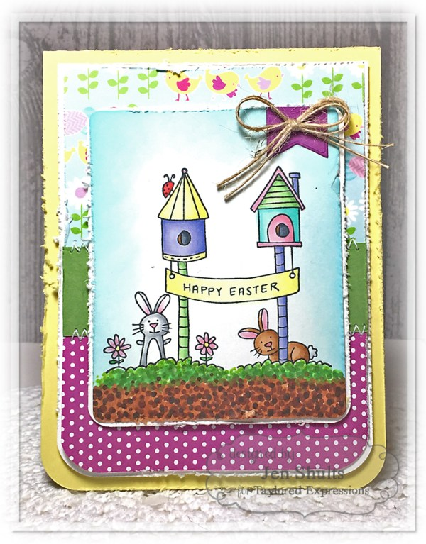 Happy Easter by Jen Shults, handmade card