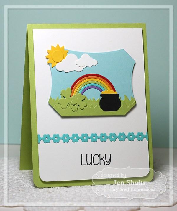 Lucky by Jen Shults, handmade card