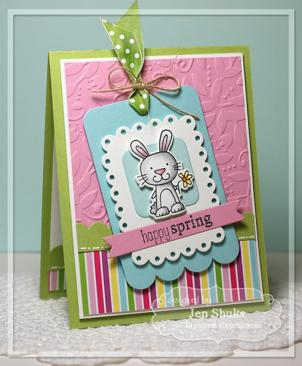 Happy Spring by Jen Shults, handmade card